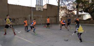 Treino de Floorball - Invictus @ Escola Estadual Dona Castorina Cavalheiro | São Paulo | Brasil